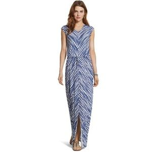 CHICO's Tie-Front Blue Striped Maxi Dress SZ 3